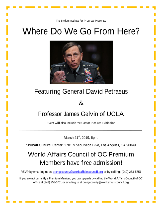 Upcoming Events petraeus