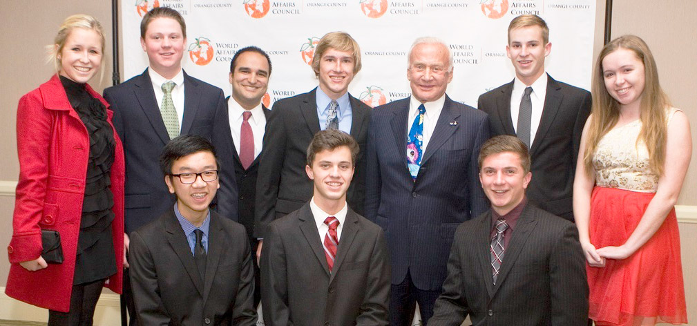 Students with Buzz Aldrin
